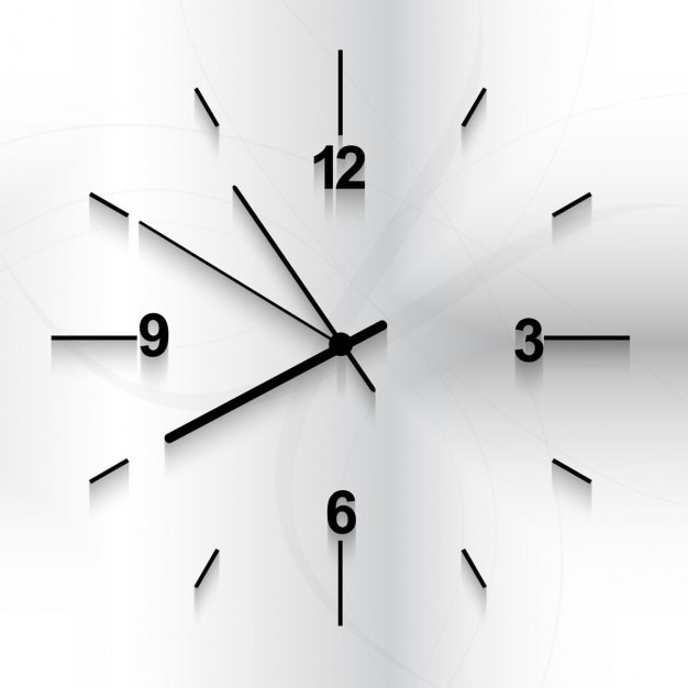 Wall clock background Free Vector