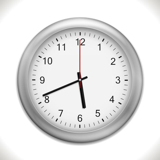 Настенные часы изолированные Бесплатные векторы
