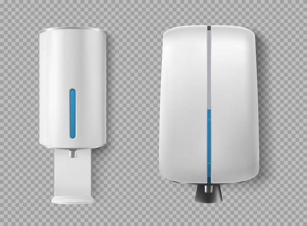 Wall dispenser for antibacterial soap, antiseptic Free Vector
