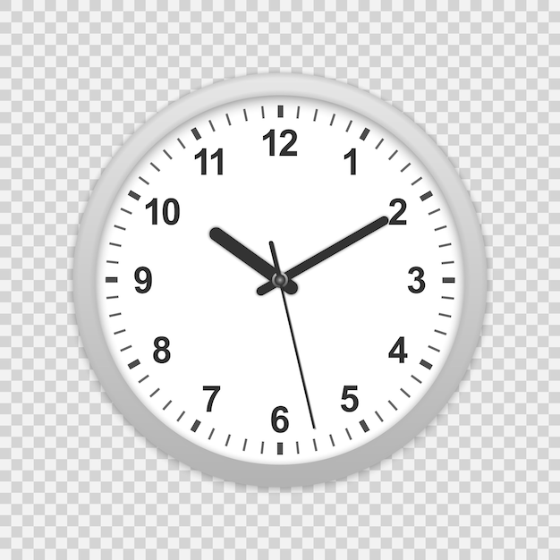 Wall office clock icon. Premium Vector