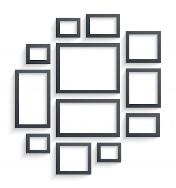 Premium Vector Wall Picture Frames Templates Isolated On White Background