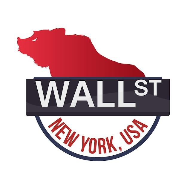 ウォールストリートニューヨーククマ Premiumベクター