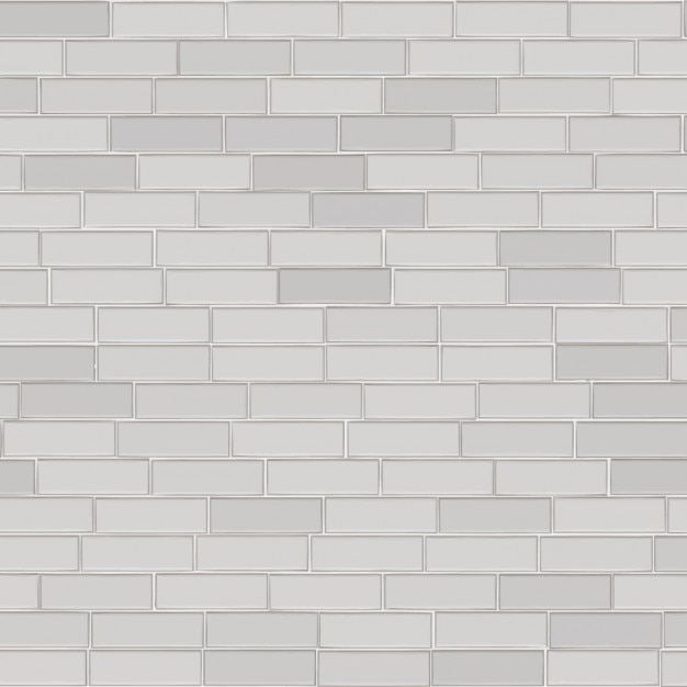 Wall of white bricks background Free Vector