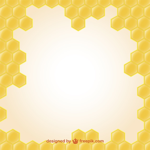 Wallpaper of honey illustration Free Vector