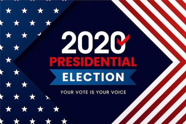 2020年の米国大統領選挙の壁紙 無料ベクター