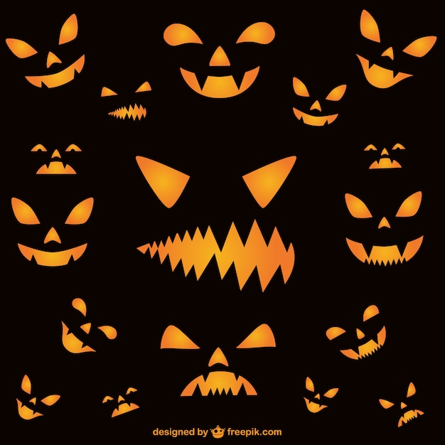 Halloween house decoration - Wallpaper Of Halloween Horror Faces Vector Free Download