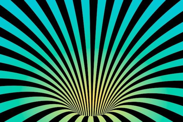 Wallpaper psychedelic optical illusion concept Premium Vector