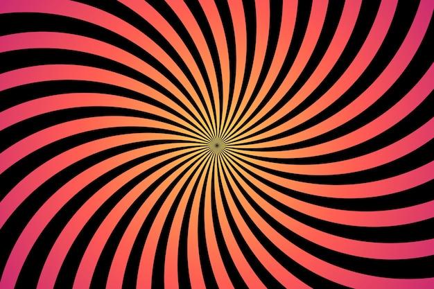 Wallpaper psychedelic optical illusion Premium Vector