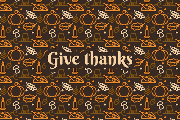 Wallpaper for thanksgiving day concept Free Vector