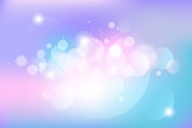 Wallpaper with bokeh theme Free Vector