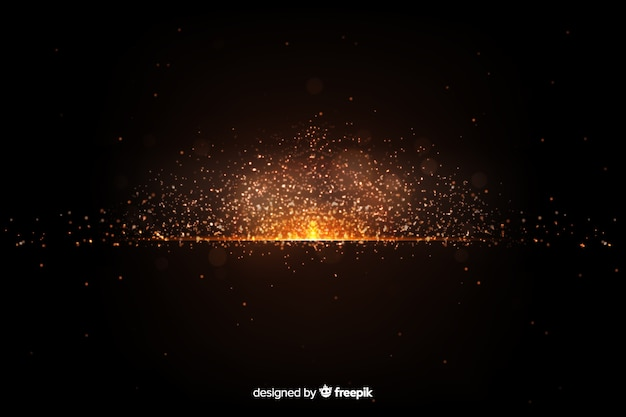 Wallpaper with explosion particle design Free Vector