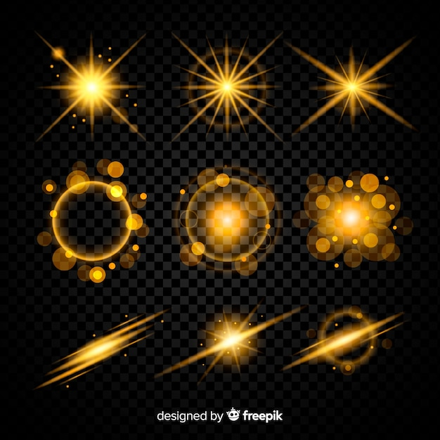 Wallpaper with light effect collection Free Vector