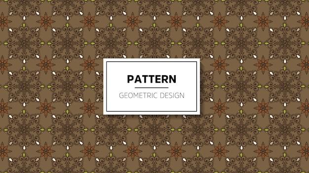 Wallpaper with mandala seamless pattern. Free Vector