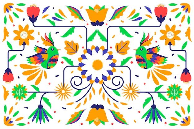 멕시코 디자인 벽지 무료 벡터