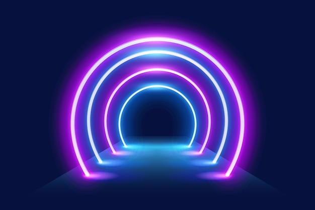 Free Vector   Wallpaper with neon lights