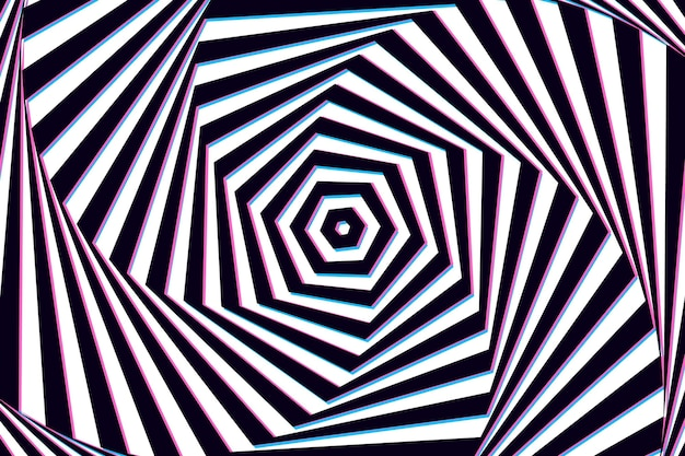 Wallpaper with psychedelic optical illusion Free Vector