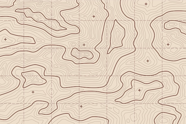 Wallpaper with topographic map concept Free Vector