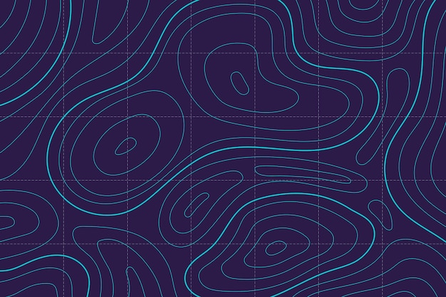 Wallpaper with topographic map design Free Vector