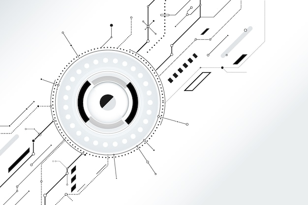 Wallpaper with white technology Free Vector