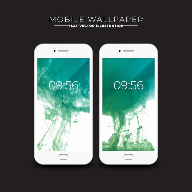 Wallpapers of abstract mobile ink screens
