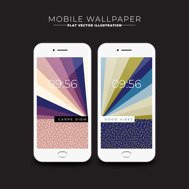 Wallpapers of abstract screens for mobile