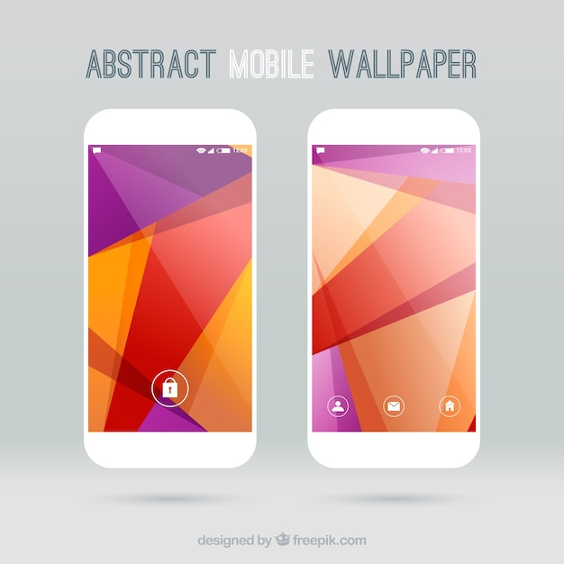Wallpapers with abstract shapes