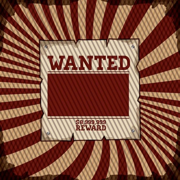 Wanted design Premium Vector