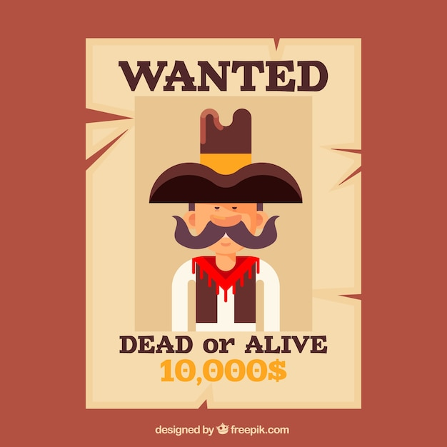 wanted poster for alive or dead criminal vector free download. Black Bedroom Furniture Sets. Home Design Ideas