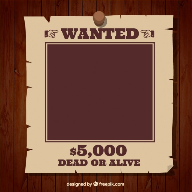 Wanted poster template Vector – Wanted Poster Template Download