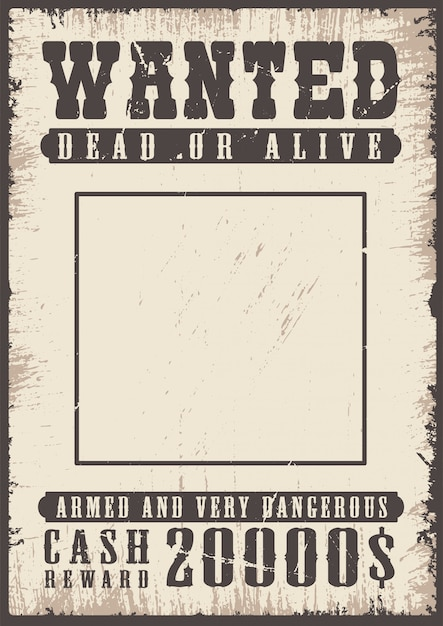 Wanted vintage poster Free Vector