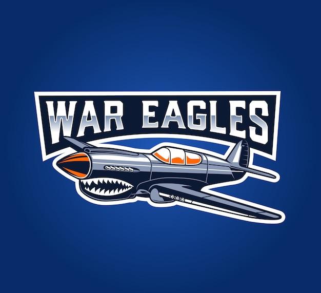 Значок классического самолета war eagles Premium векторы