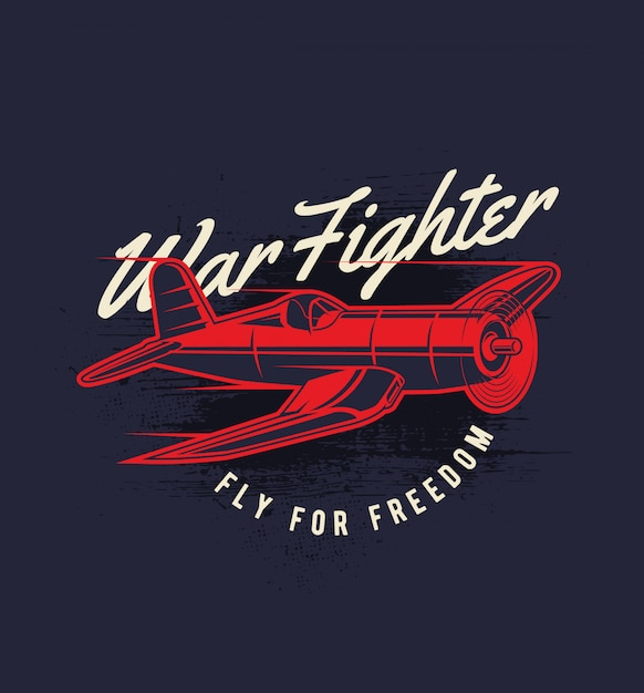 War fighter Premium Vector
