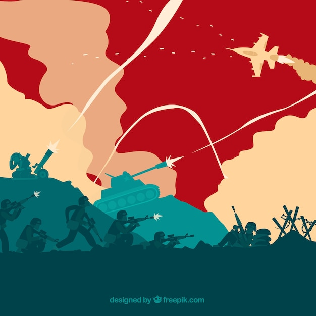 War illustration Free Vector