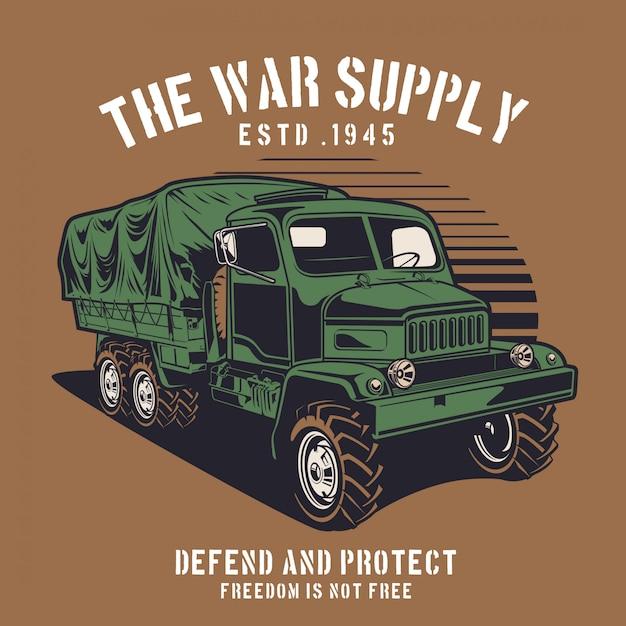 War supply truck Premium Vector