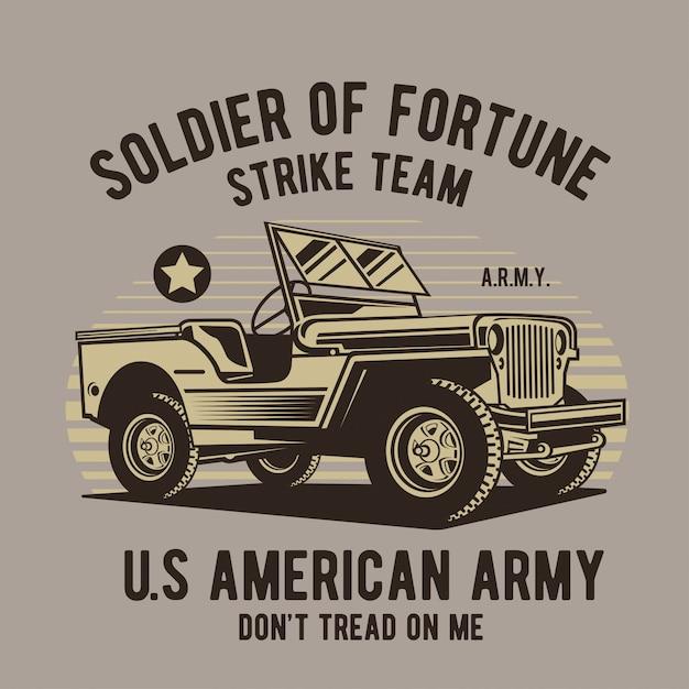 War vehicle Premium Vector