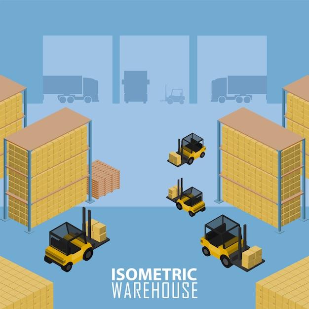 Warehouse infographic illustration. Premium Vector