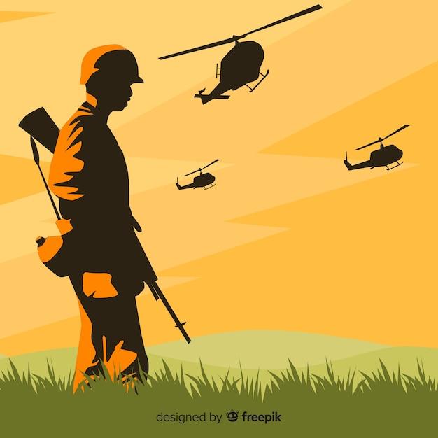 戦争の背景 無料ベクター