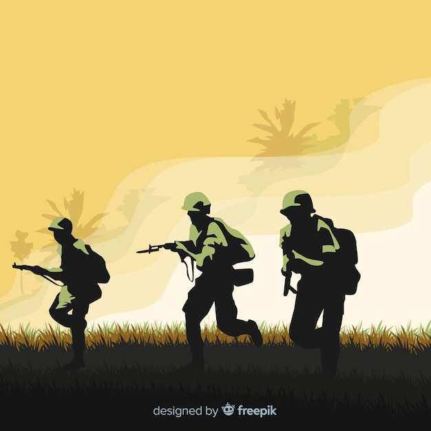 Warlike background Free Vector