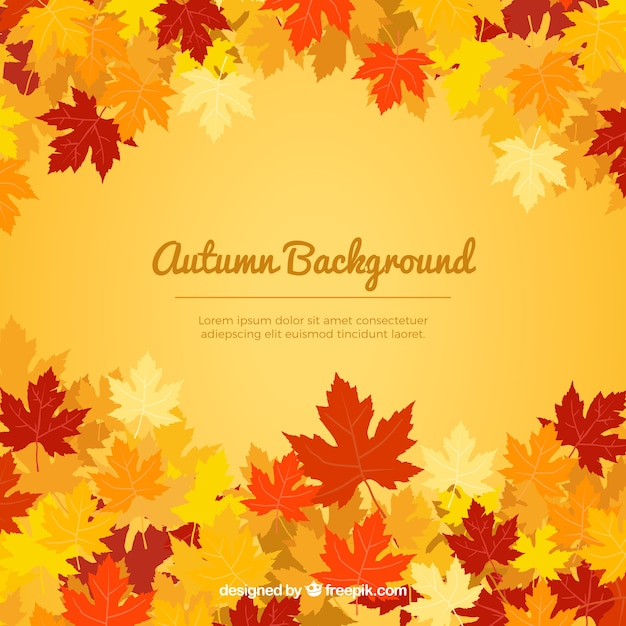 Warm autumnal background Free Vector