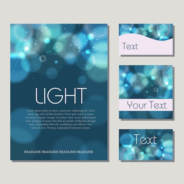 Warm bokeh blurred background Vector | Free Download