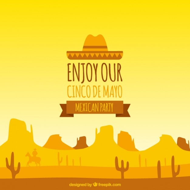 warm colors cinco de mayo background vector free download
