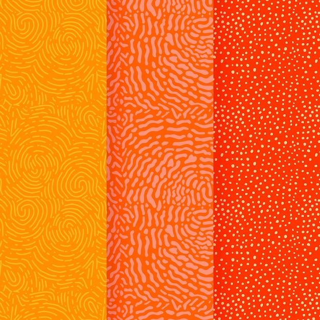 Warm colours of lines seamless pattern template Premium Vector