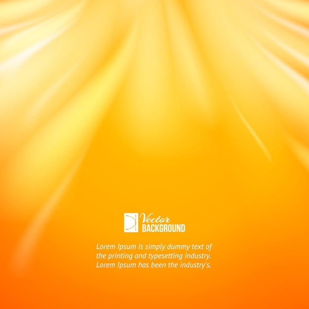 Warm sun light. Free Vector