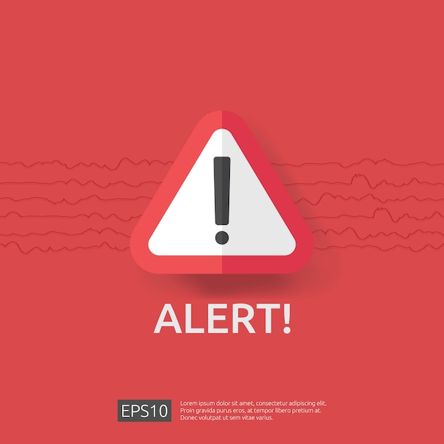 Warning alert sign with exclamation mark symbol Premium Vector