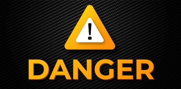 Warning danger  banner Premium Vector