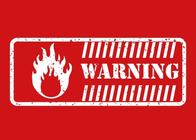 Warning sign design Premium Vector