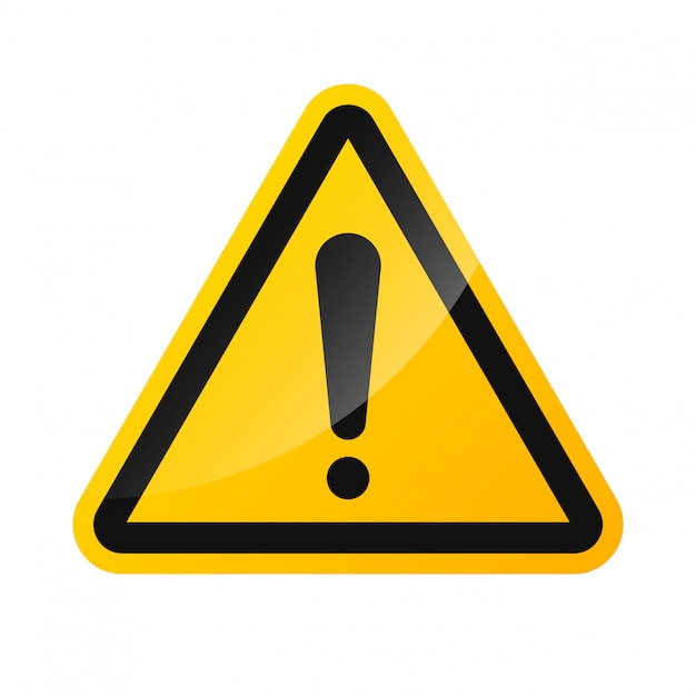 Warning signs of high voltage hazard isolated on a white background Premium Vector