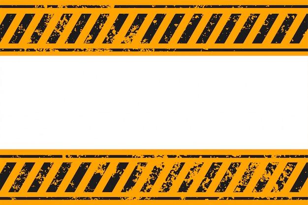 警告スタイルの黄色と黒のストライプの背景 無料ベクター