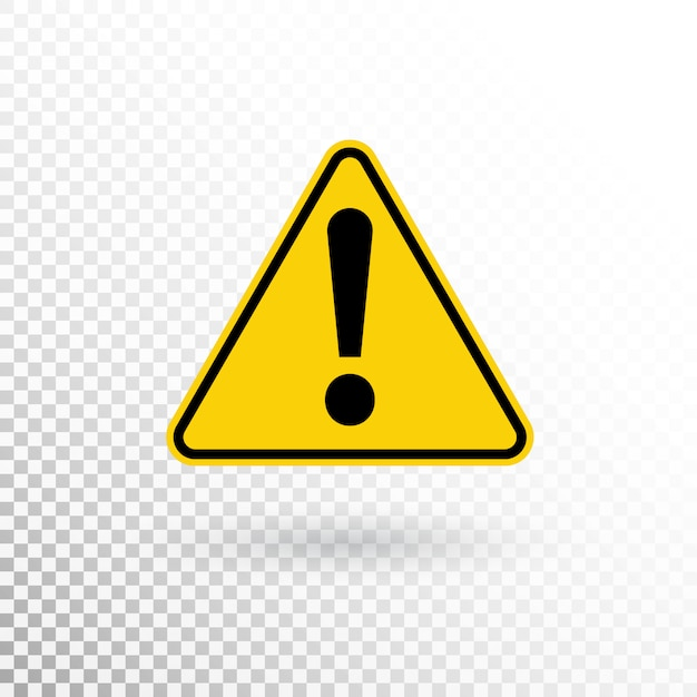Warning symbol. attention button. warning sign. exclamation mark icon in flat style Premium Vector