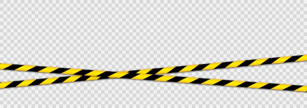 Предупреждающие ленты от угроз. черно-желтая полосатая линия. Premium векторы